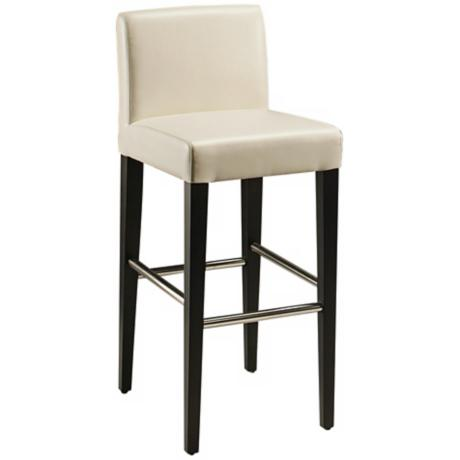 "Equinoii 30"" White Bonded Leather Bar Stool"