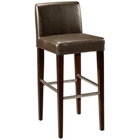 "Equinoii 26"" Mocha Bonded Leather Counter Stool"