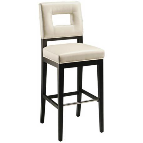 "Hajime 30"" White Bonded Leather Bar Stool"