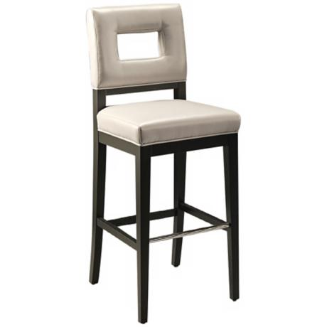 "Hajime 26"" Light Gray Bonded Leather Counter Stool"