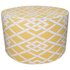 Point Round Yellow Ottoman