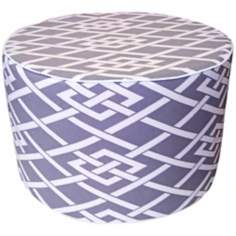 Point Round Grey Ottoman