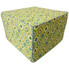 Recoleta Outdoor Square Green Ottoman