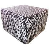 Puzzle Outdoor Square Black Ottoman