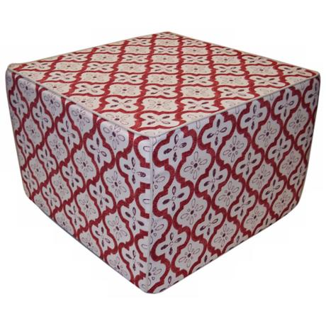 Tiles Outdoor Square Berry Ottoman