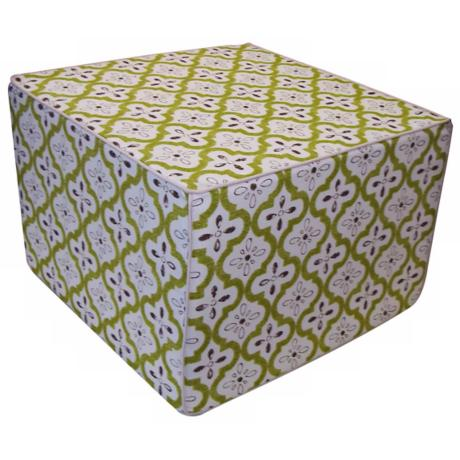 Tiles Outdoor Square Lime Ottoman