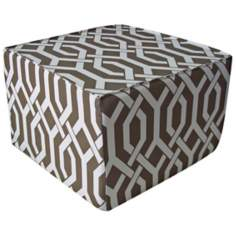 Fork Outdoor Square Brown Ottoman