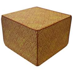 Jaipur Outdoor Square Orange Ottoman