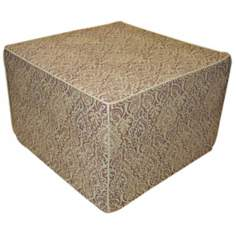 Jaipur Outdoor Square Green Ottoman