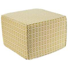 Mosaic Outdoor Square Green Ottoman