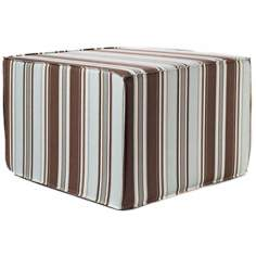 Thick Stripes Outdoor Square Spa Ottoman
