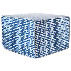 Puzzle Outdoor Square Blue Ottoman