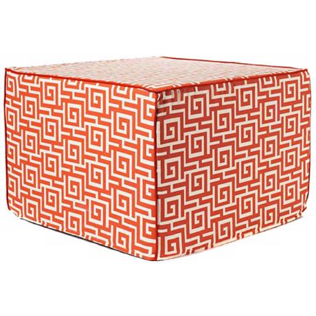 Puzzle Outdoor Square Orange Ottoman