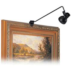 "Black Finish 24"" High Plug-In Clamp Picture Light"