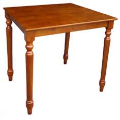"Solid Wood 30"" Square Cottage Oak Turned Leg Table"