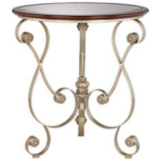 Jillian Champagne Iron Accent Table