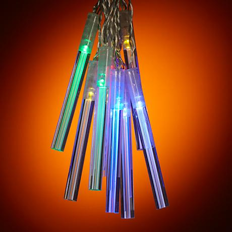 String Lights Lamps Plus : Solar Powered 10 Light Diffusion Rod LED String Lights - #Y5592 www.lampsplus.com