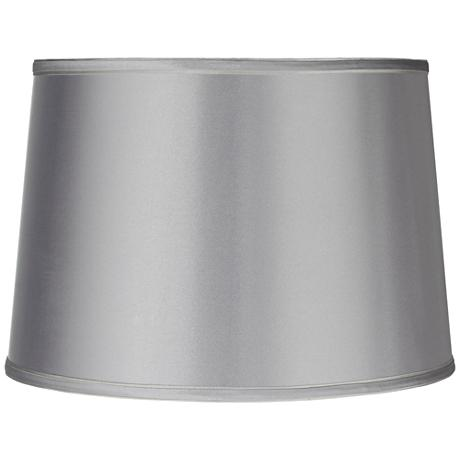 Sydnee Satin Light Gray Drum Lamp Shade 14x16x11 (Spider)