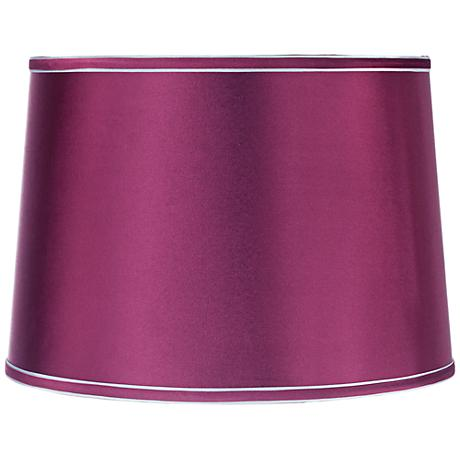 Sydnee Satin Plum Drum Lamp Shade 14x16x11 (Spider)