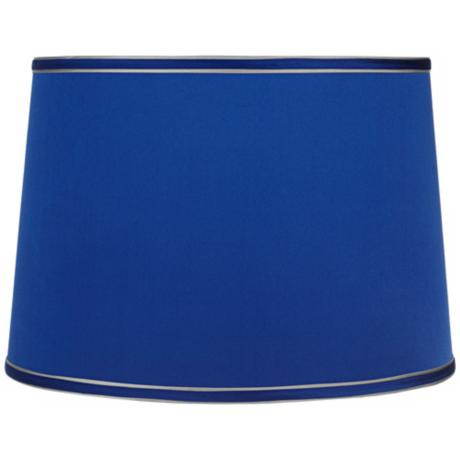 Sydnee Satin Dark Blue Drum Lamp Shade 14x16x11 (Spider)