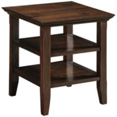 Acadian Dark Tobacco Brown End Table