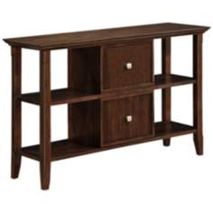 Acadian Dark Tobacco Brown Console Table