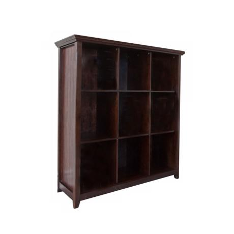 Acadian Dark Tobacco Brown 9-Cube Storage Bookcase