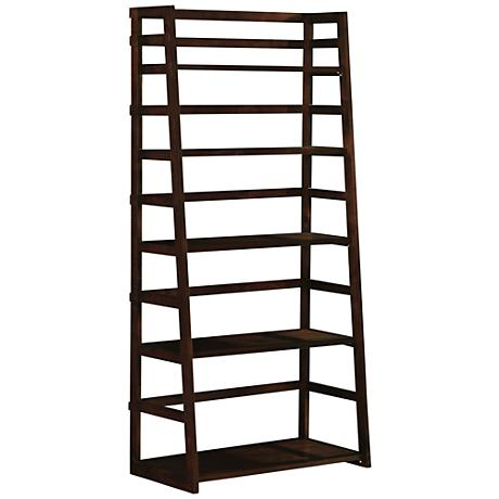 Acadian Dark Tobacco Brown Cross Ladder Shelf