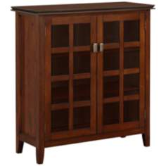 Artisan Medium Brown Auburn Pine Wood Storage Cabinet