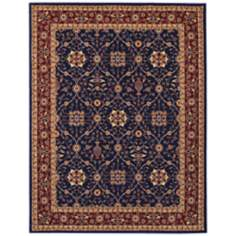 Anatolia 2869 All Over Vase Navy Area Rug