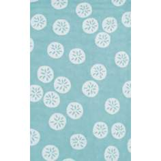 Resort Sand Dollar 25351 Aqua Blue Area Rug