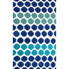 Resort Dots 25377 Blue Area Rug
