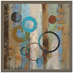 "Bubble Graffiti I 19"" Square Framed Abstract Wall Art"