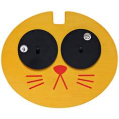 Hepcat Yellow Cat Child's Wall Clock