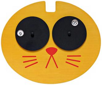 Hepcat Yellow Cat Child's Wall Clock (Y6253)