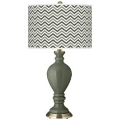 Deep Lichen Green Narrow Zig Zag Civitia Table Lamp