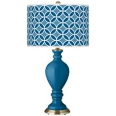 Mykonos Blue Circle Rings Civitia Table Lamp