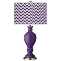 Acai Narrow Zig Zag Civitia Table Lamp