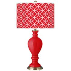 Bright Red Circle Rings Civitia Table Lamp