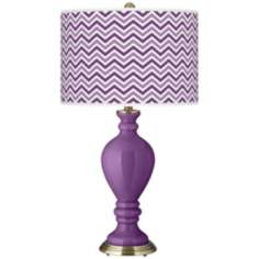 Passionate Purple Narrow Zig Zag Civitia Table Lamp