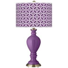 Passionate Purple Circle Rings Civitia Table Lamp