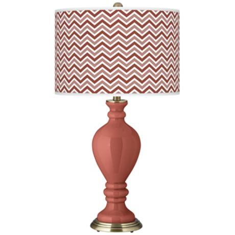 Brick Paver Narrow Zig Zag Civitia Table Lamp