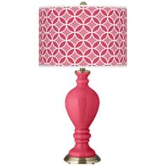Eros Pink Circle Rings Civitia Table Lamp