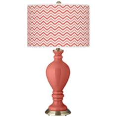 Coral Reef Narrow Zig Zag Civitia Table Lamp