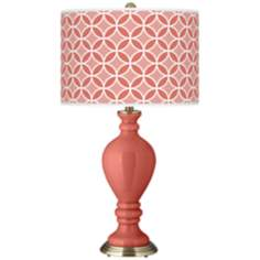 Coral Reef Circle Rings Civitia Table Lamp