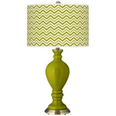 Olive Green Narrow Zig Zag Civitia Table Lamp