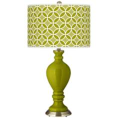 Olive Green Circle Rings Civitia Table Lamp