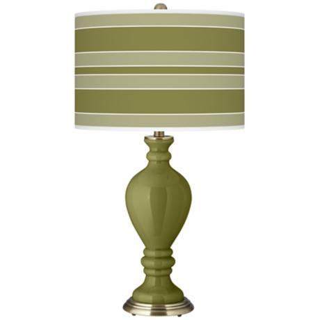 Rural Green Bold Stripe Civitia Table Lamp