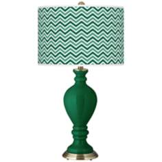 Greens Narrow Zig Zag Civitia Table Lamp