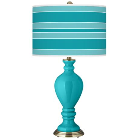 Surfer Blue Bold Stripe Civitia Table Lamp